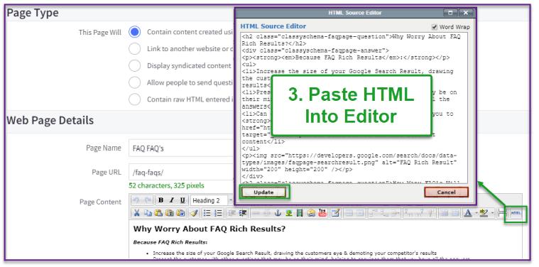 Paste HTML into BigCommerce HTML Editor