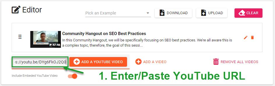 Enter YouTube Video URL