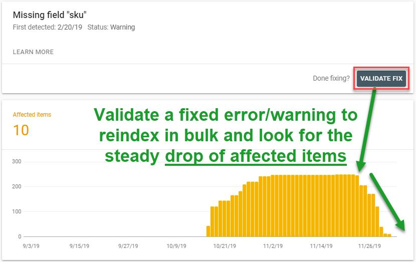 product bulk validation