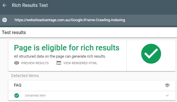 Rich Results Test Tool - FAQ