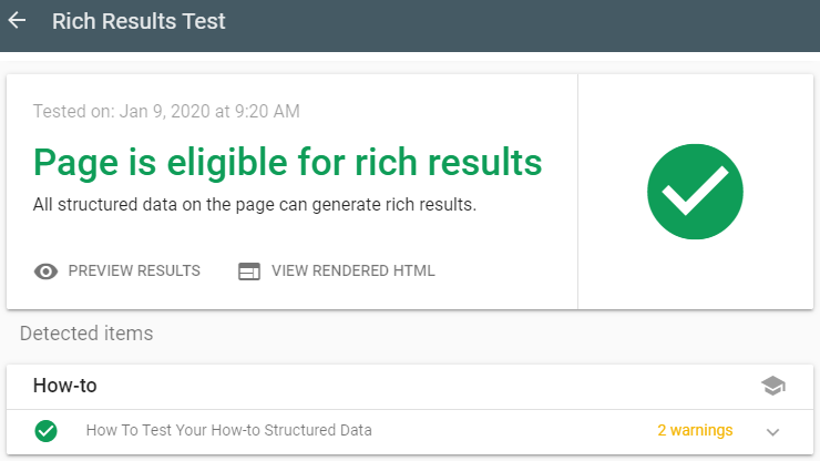 How-to Rich Results Test