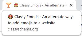 Emoji in Page Title